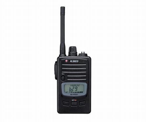アルインコ DJ-P221 特定小電力トランシーバー ALINCO | 無線機 免許不要 おすすめ 売れ筋 ロングアンテナ 防水 IP67 単三乾電池 ミドルアンテナ 交互47ch 中継機対応