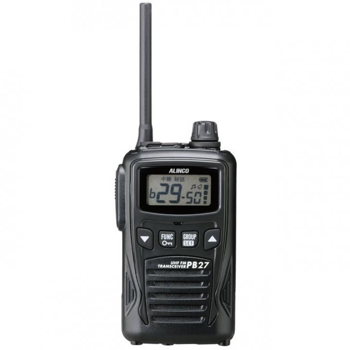 アルインコ DJ-PB27 ALINCO 特定小電力トランシーバー 47ch 中継器対応 | 無線機 免許不要 おすすめ 売れ筋 単三電池 大音量 交互47ch ハンディ 特小 VOX ハンズフリー 単三乾電池 大音量