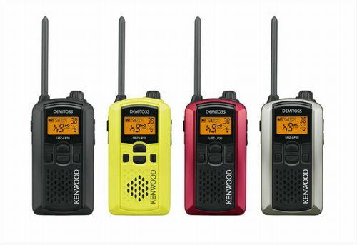 ケンウッド UBZ-LP20 特定小電力トランシーバー DEMITOSS KENWOOD | 無線機 免許不要 ケンウッド インカム JVC デミトス おすすめ 売れ筋 交互20ch 大音量 ベストセラー 回転アンテナ VOX ハンズフリー 防水性能 IP54 黒 赤 黄 銀