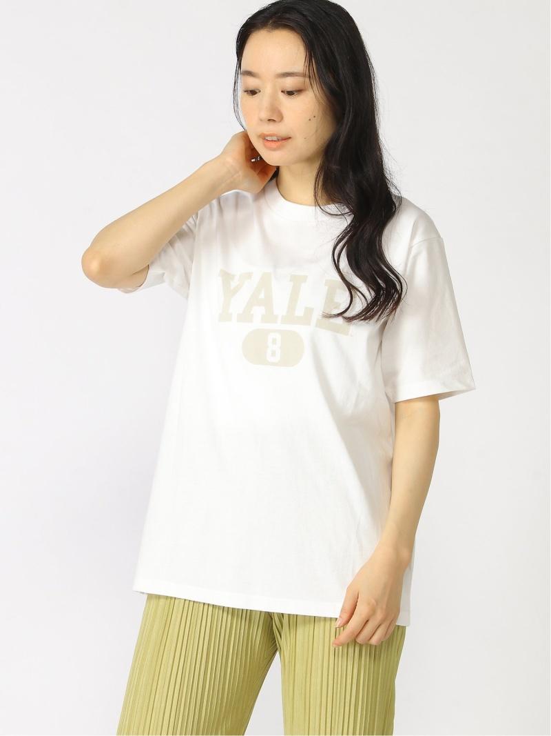 Te chichi 初回限定 レディース カットソー テチチ Lugnoncure SALE 53%OFF カレッジプリントTee ホワイト Fashion Rakuten グレー Tシャツ ナンバー 今だけスーパーセール限定 ベージュ RBA_E