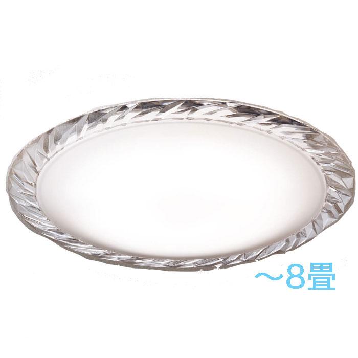 シーリングライト Panasonicクリスタルガラス 調光・調色~8畳 エレガント ゴージャス 明るさフリー