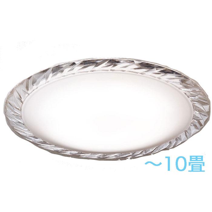 シーリングライト Panasonicクリスタルガラス 調光・調色~10畳 エレガント ゴージャス 明るさフリー