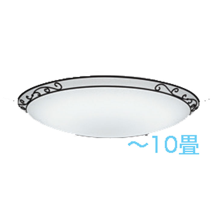 シーリングライト ODELIC 調光・調色~10畳カントリー 唐草模様 LED 一体型 虫が入りにくい