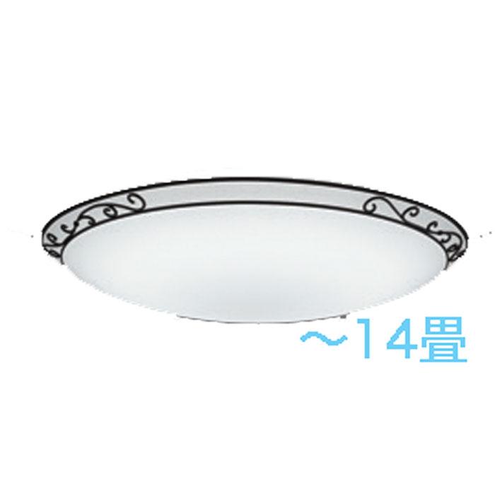 シーリングライト ODELIC 調光・調色~14畳カントリー 唐草模様 LED 一体型 虫が入りにくい