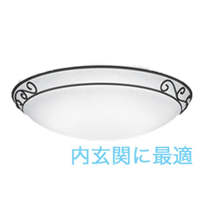 小型シーリングライト ODELIC カントリー 唐草模様 LEDランプ昼白色 電球色 簡易取付A 虫が入りにくい FCL30W相当