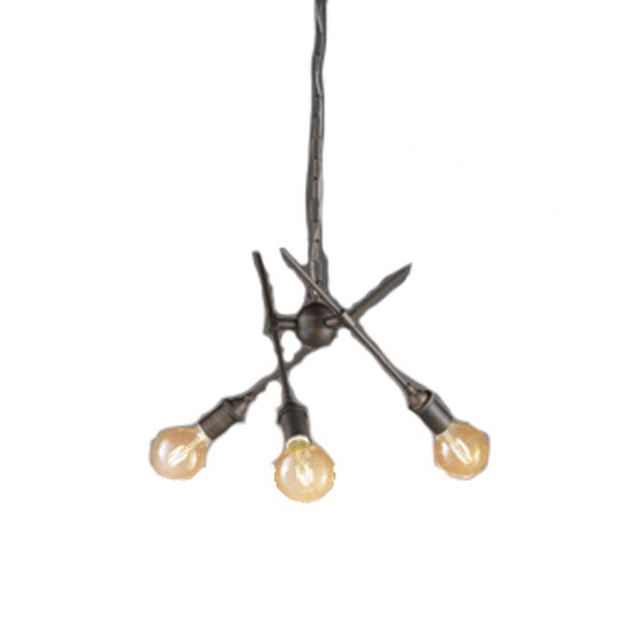 シャンデリア ODELIC ペンダントライトおしゃれ レトロ ヴィンテージ風 アンティーク 電球色 LEDランプ OC257051LC1