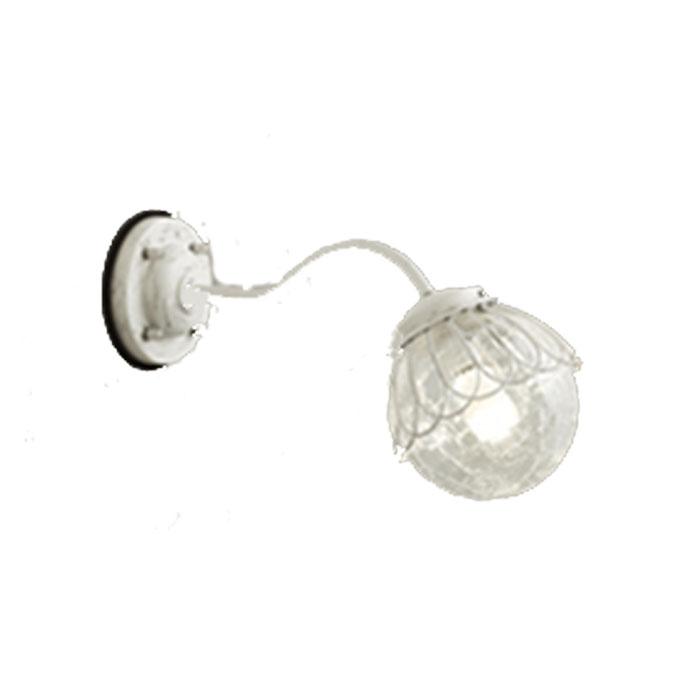 ポーチライト ODELIC エクステリア LEDランプ 玄関灯 カントリー ナチュラル レトロ おしゃれ アイボリー色ワイピング 電球色 ガラス 白熱灯40W相当