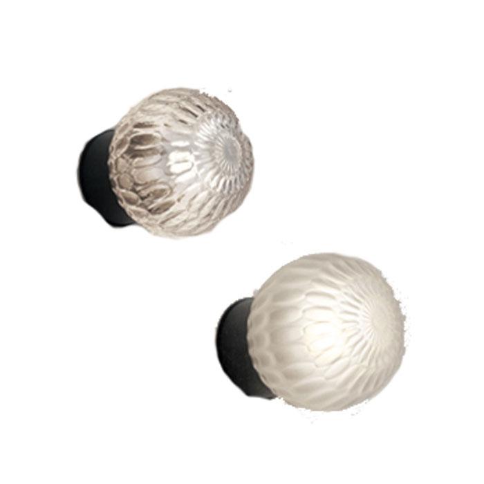 ポーチライト ODELIC オーデリック ガラスグローブ ディンプル模様おしゃれ シック シンプル 電球色 LEDランプ 白熱灯40W相当 表札灯 玄関灯 シンプルな球形フォルムは店舗から住宅まで幅広いファサードにフィットします OG254693LD OG254694LD