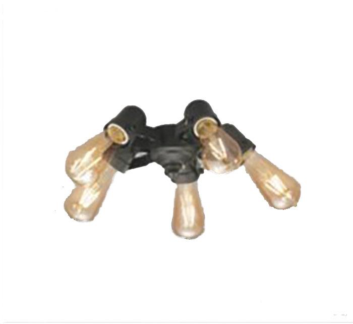 シーリングファン灯具 ODELICLED電球 フィラメントランプ・5灯 白熱灯30Wx5灯相当電球色 WF830~833専用ファン本体と組み合わせてリモコンをご使用ください☆