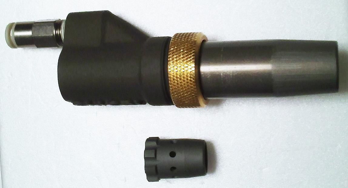 スパッター非溶着性先端ノズル取換え型のエアブロー・ノズル:ユニットノズル 13x70 W1/2