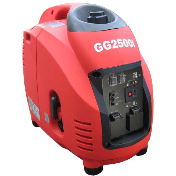 【代引不可】 【フルテック】 GG2500i 携帯発電機 インバーター方式採用 最大出力2.5KVA 軽量28kg!