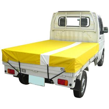 トラックシート ターポリンL1号 1.9×2.1m ライン付き黄色