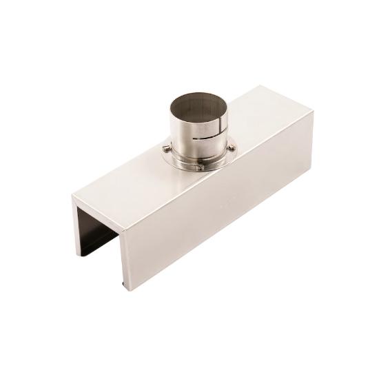 【LEISTER】(ライスター) [107.340] 熱風溶接機アクセサリー コの字ノズル 45×45×250mm エレクトロン用