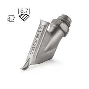 【LEISTER】(ライスター) [113.877] 熱風溶接機アクセサリー 三角スピードノズル 5.7mmφ 〔仮止めノズル無し〕 ウェルディングペン用