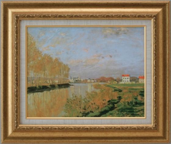 【受注生産品】 【代引不可】 モネ 【アルジャントゥイユのセーヌ河】 [ac-1005] 世界の名画・高級複製画
