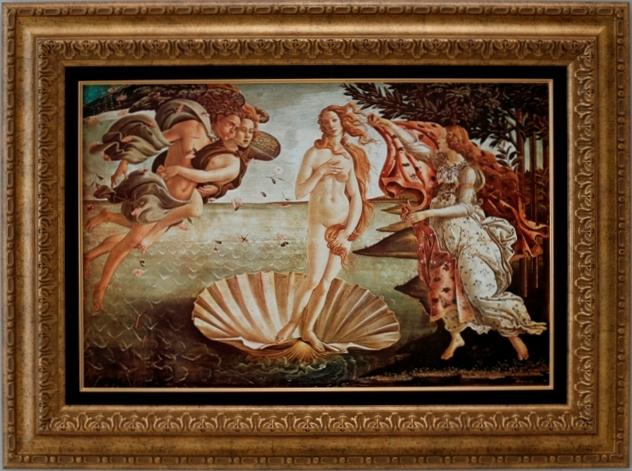 【受注生産品】 【代引不可】 ボッティチェルリ 【ヴィーナス誕生】 [ac-105] 世界の名画・高級複製画