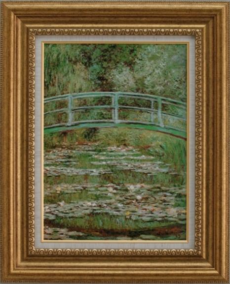 【受注生産品】 【代引不可】 モネ 【睡蓮の池、日本の橋】 [ac-1102] 世界の名画・高級複製画
