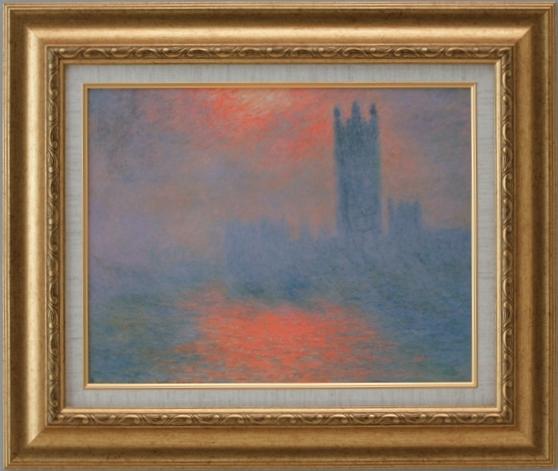 【受注生産品】 【代引不可】 モネ 【ロンドンの国会議事堂】 [ac-1106] 世界の名画・高級複製画