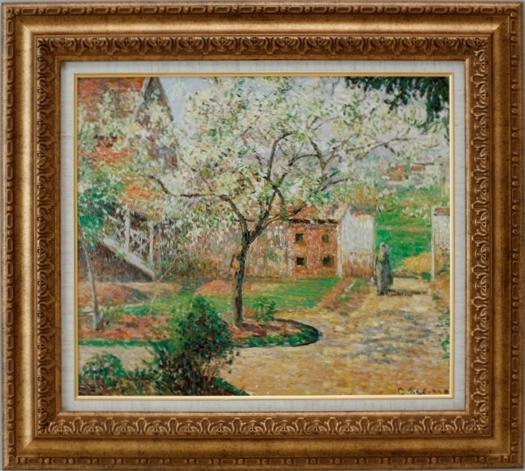 柔らかい 【受注生産品】 【】 ピサロ 【プラムの花咲く樹】 [ac-1203] 世界の名画・高級複製画