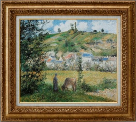 【お買得】 【受注生産品】 【】 ピサロ 【シャポンバルの風景】 [ac-1206] 世界の名画・高級複製画