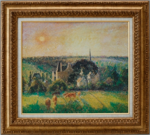 【受注生産品】 【代引不可】 ピサロ 【エラニーの風景】 [ac-1207] 世界の名画・高級複製画