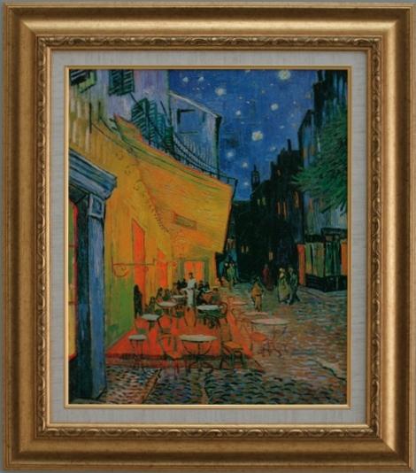 【受注生産品】 【代引不可】 ゴッホ 【夜のカフェテラス】 [ac-1401a] 世界の名画・高級複製画