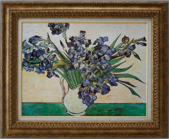 【受注生産品】 【代引不可】 ゴッホ 【花瓶のアイリス】 [ac-1503] 世界の名画・高級複製画