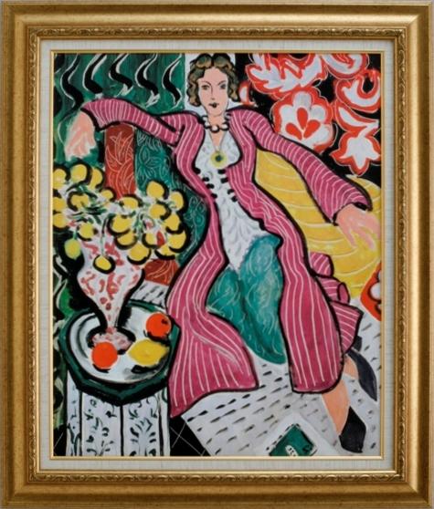 【受注生産品】 【代引不可】 マティス 【紫色のロープの女】 [ac-1701] 世界の名画・高級複製画