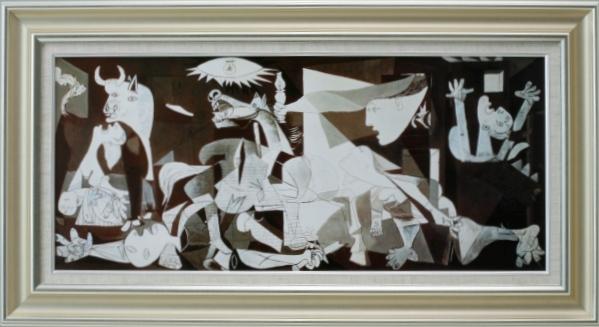 【受注生産品】 【代引不可】 ピカソ 【ゲルニカ】 [ac-1803a] 世界の名画・高級複製画