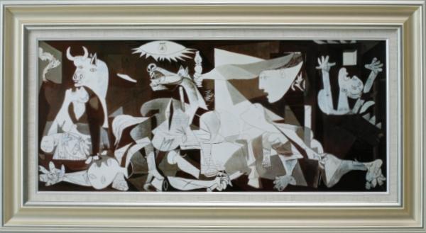 【受注生産品】 【代引不可】 ピカソ 【ゲルニカ】 [ac-1803b] 世界の名画・高級複製画
