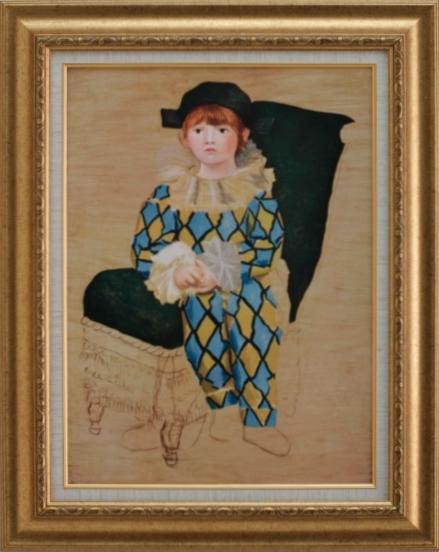 【受注生産品】 【代引不可】 ピカソ 【画家の息子】 [ac-1806] 世界の名画・高級複製画