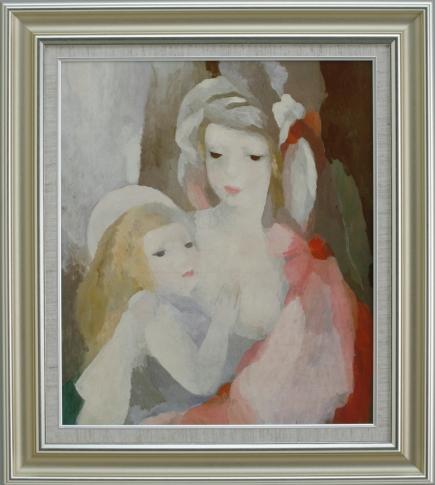 【受注生産品】 【代引不可】 ローランサン 【母と子】 [ac-2001] 世界の名画・高級複製画
