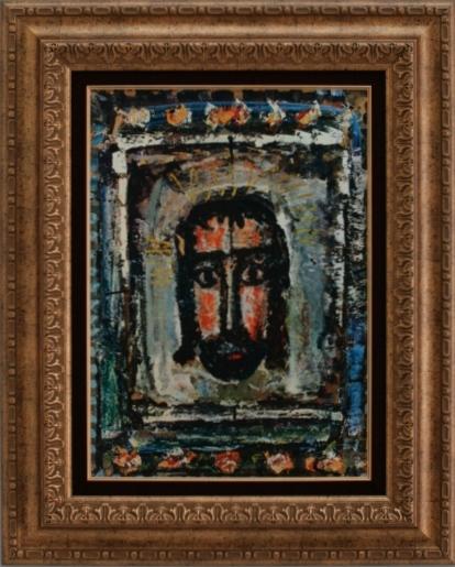 魅力的な 【受注生産品】【代引不可】 ルオー【代引不可】【キリストの頭部】 [ac-2006] ルオー 世界の名画 [ac-2006]・高級複製画