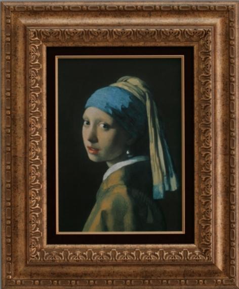 【受注生産品】 【代引不可】 フェルメール 【青いターバンの女】 [ac-201b] 世界の名画・高級複製画