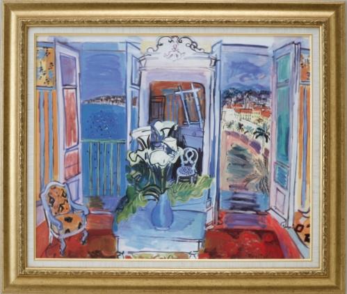 【受注生産品】 【代引不可】 デュフィ 【開かれた窓の室内】 [ac-2104] 世界の名画・高級複製画