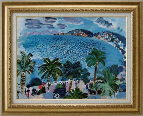 【受注生産品】 【代引不可】 デュフィ 【地中海の風景】 [ac-2106] 世界の名画・高級複製画