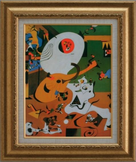 【受注生産品】 【代引不可】 ミロ 【オランダの家】 [ac-2404] 世界の名画・高級複製画