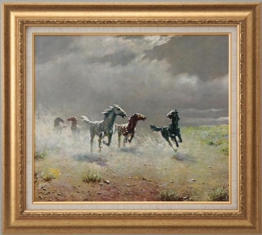 【受注生産品】 【代引不可】 アルボー 【荒野の群馬】 [ac-2502a] 世界の名画・高級複製画