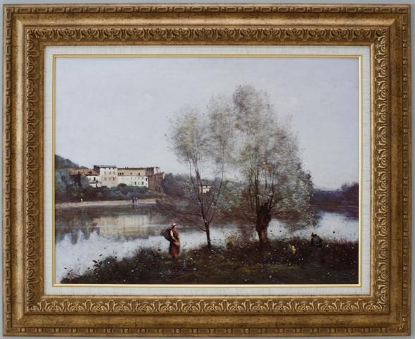【受注生産品】 【代引不可】 コロー 【ヴィル・ダブレー】 [ac-306] 世界の名画・高級複製画