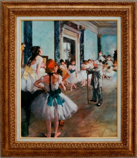 【受注生産品】 【代引不可】 ドガ 【ダンス教室】 [ac-406] 世界の名画・高級複製画