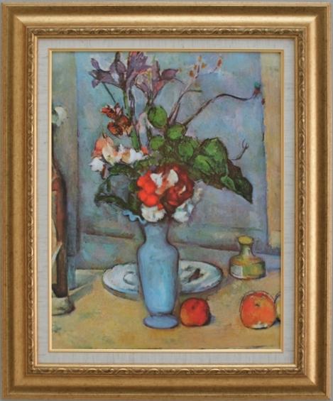 【受注生産品】 【代引不可】 セザンヌ 【青い花瓶】 [ac-504] 世界の名画・高級複製画