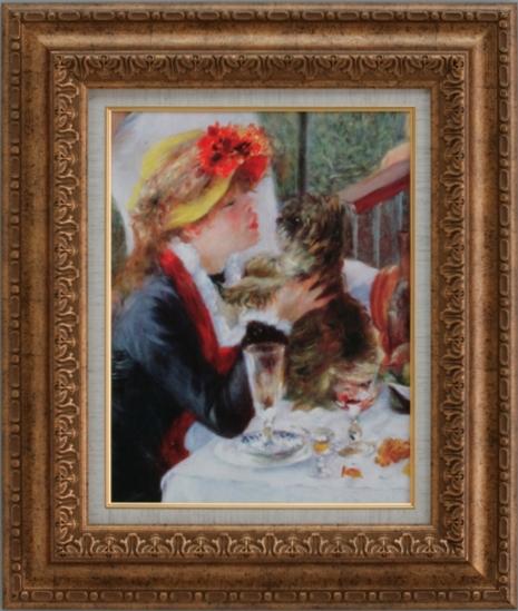 【受注生産品】 【代引不可】 ルノワール 【船遊びの昼食[部分]】 [ac-604] 世界の名画・高級複製画