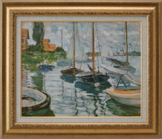 【受注生産品】 【代引不可】 モネ 【セーヌ川の帆船】 [ac-905] 世界の名画・高級複製画
