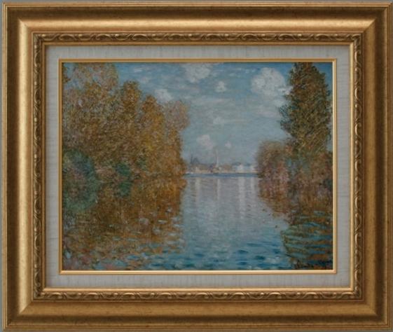 【受注生産品】 【代引不可】 モネ 【アルジャントゥイユの秋】 [ac-906] 世界の名画・高級複製画