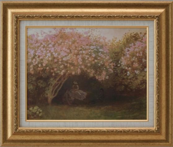 【受注生産品】 【代引不可】 モネ 【リラの木の下で】 [ac-907] 世界の名画・高級複製画