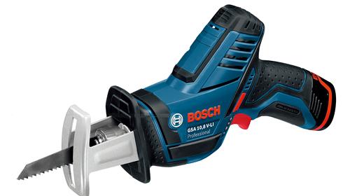 【BOSCH】(ボッシュ) [GSA10.8V-LI] バッテリーセーバーソー (キャリングケース、リチウムイオンバッテリー2個、充電器)