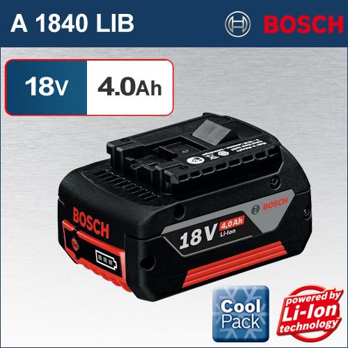 【BOSCH】(ボッシュ) [A 1840 LIB] 18V 4.0Ah リチウムイオンバッテリー