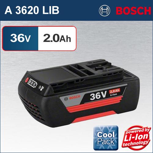 【BOSCH】(ボッシュ) [A 3620 LIB] 36V 2.0Ah リチウムイオンバッテリー