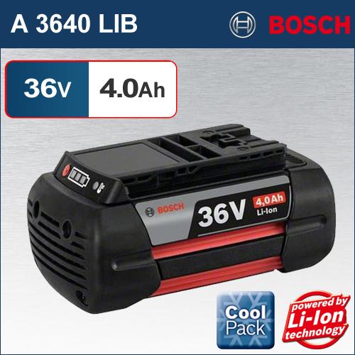 【BOSCH】(ボッシュ) [A 3640 LIB] 36V 4.0Ah リチウムイオンバッテリー