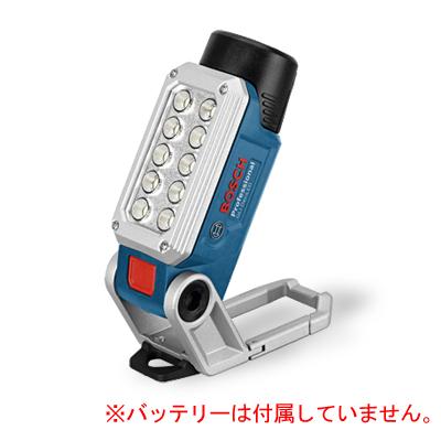 【BOSCH】(ボッシュ) [GLI DeciLED] コードレスバッテリーライト(LED)(本体のみ、バッテリー・充電器は別売)1W-LED 10灯採用により、330ルーメンの明るさ